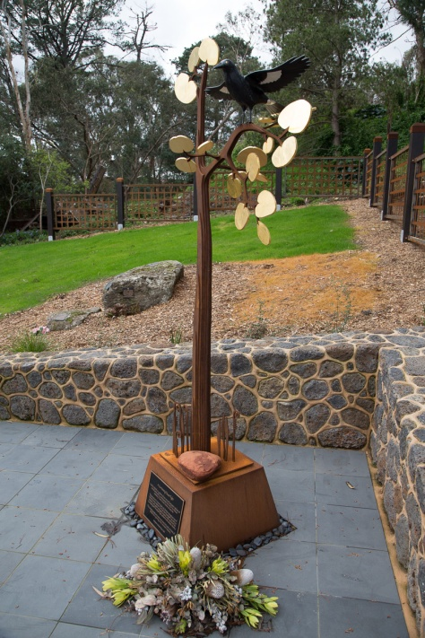 'A Currawong Takes Flight' - Sculpture by Michael Wilson